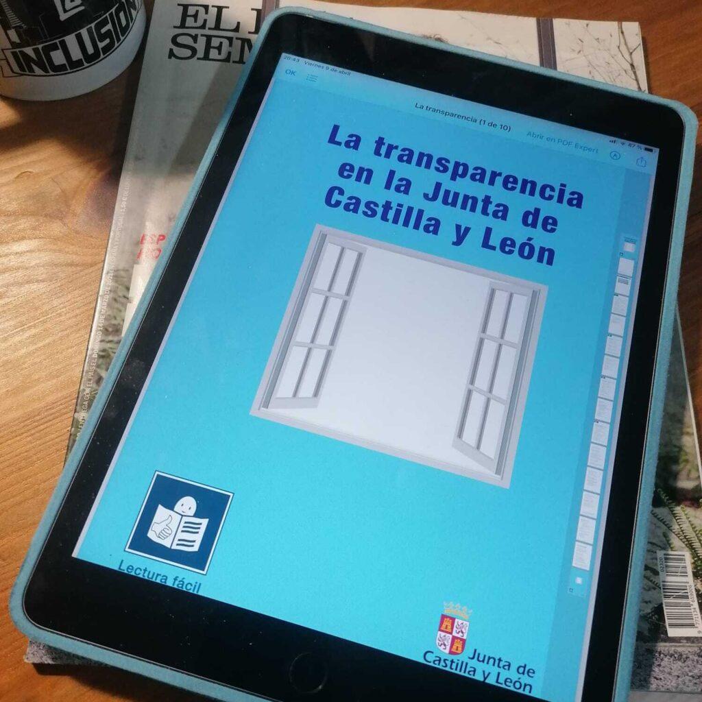 Pronisa colabora en la elaboración de contenidos divulgativos sobre transparencia de la Junta de Castilla y León